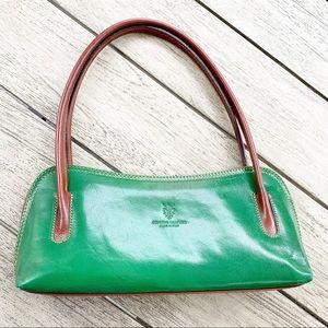 Italian Green Leather Shoulder Bag
